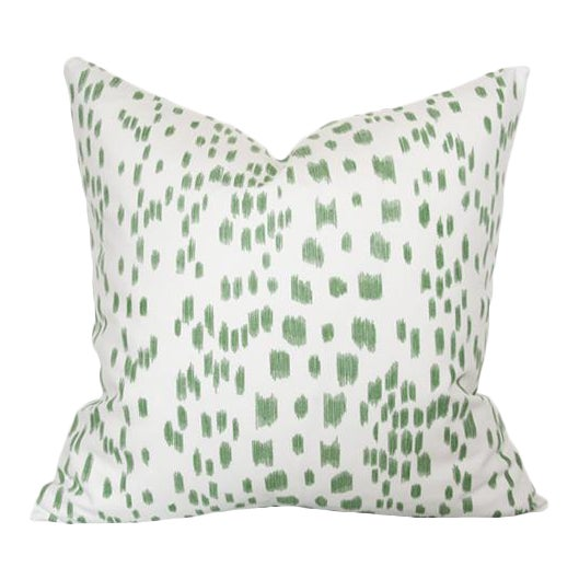 """Les Touches Green Pillow Cover 18""""sq - Image 1 of 3"""