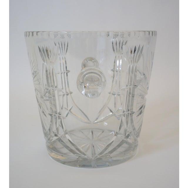 1970s Vintage Ice Bucket Lead Crystal Pressed Design For Sale - Image 5 of 13