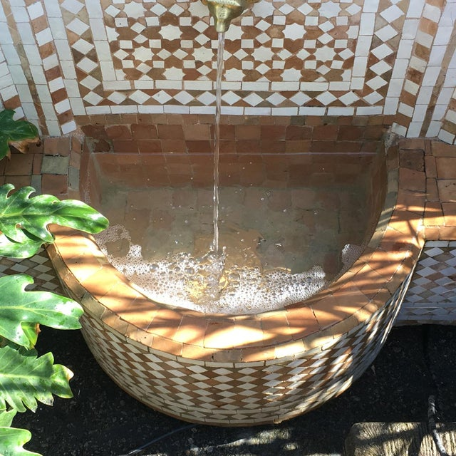 Moroccan Tile Wall Fountain - Image 2 of 4