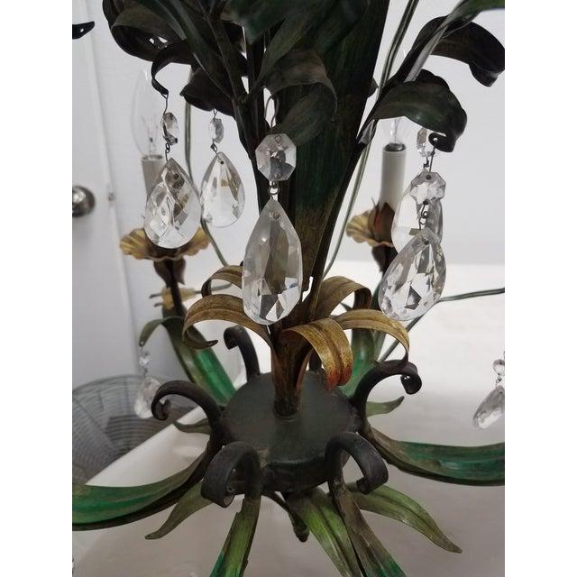 Lights Vintage Hanging Colorful Leaf/Frond Lights - Flush Mount Ceiling - a Pair For Sale - Image 7 of 13