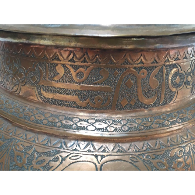 Persian Tinned Copper Jar With Lid For Sale In Los Angeles - Image 6 of 10