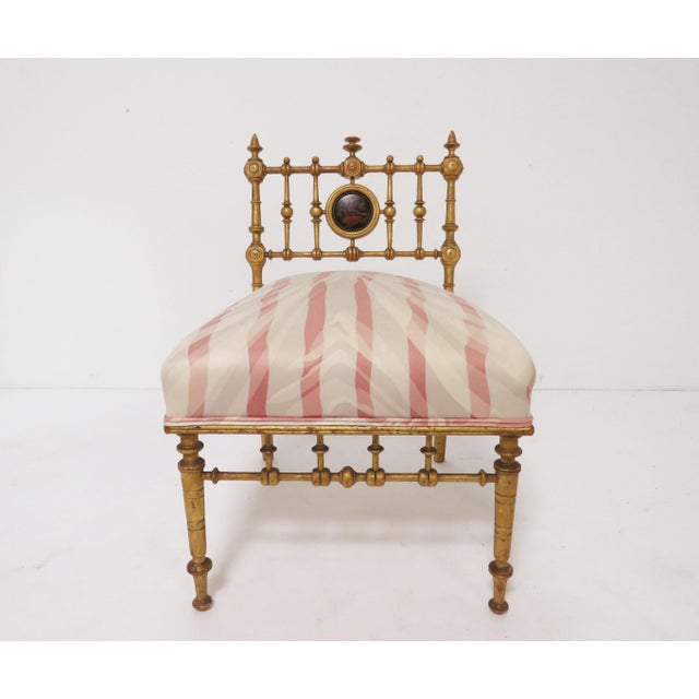 Aesthetic Movement Late 1800s American Aesthetic Movement Giltwood Slipper Chair For Sale - Image 3 of 13