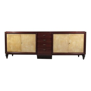 Fantastic Mid-Century Marble Top Sideboard, style of Emile-Jacques Ruhlmann For Sale