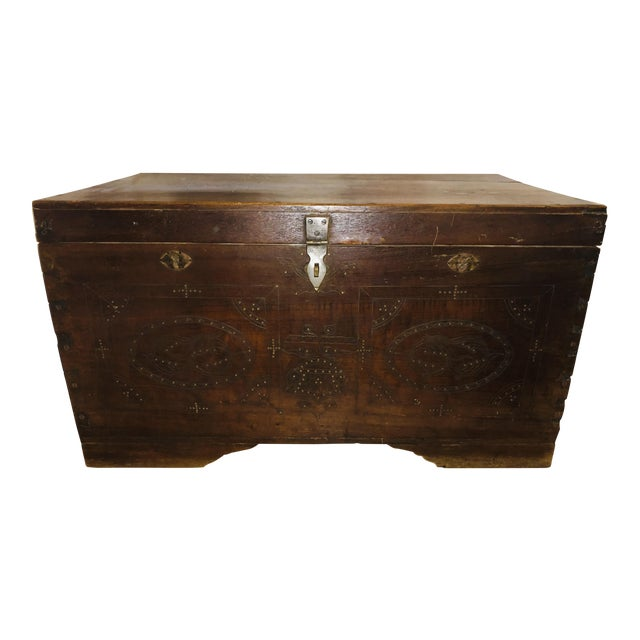 1900s Asian Antique Actor's Trunk For Sale
