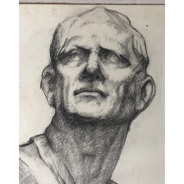 Neoclassical Academy Style Charcoal on Paper For Sale - Image 3 of 9