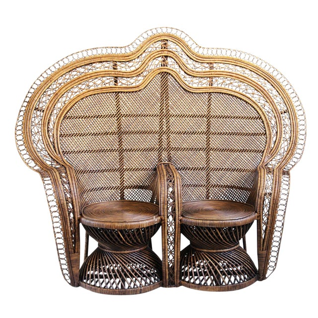 Double Plantation Peacock Chair For Sale - Image 5 of 5