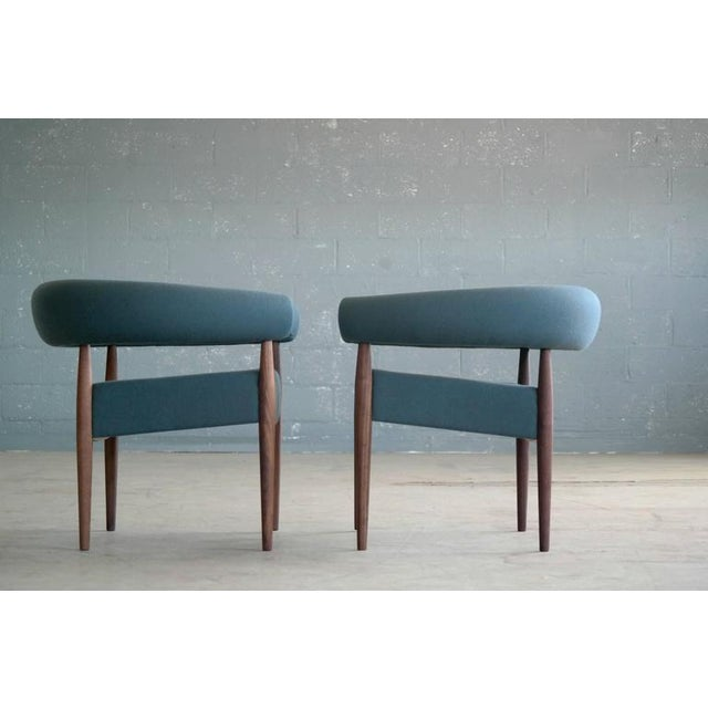 Nanna Ditzel for Getama Ring Chairs in Walnut and Wool - a Pair For Sale In New York - Image 6 of 12