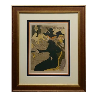 1895 Henry De Toulouse-Lautrec Divan Japonais Original Lithograph For Sale