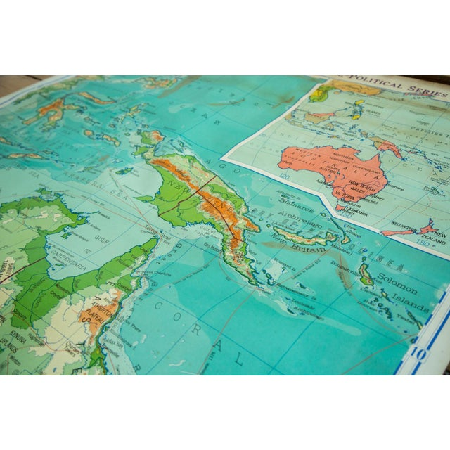 Vintage Pull Down Map Of Australia And Phillipines - Image 5 of 6