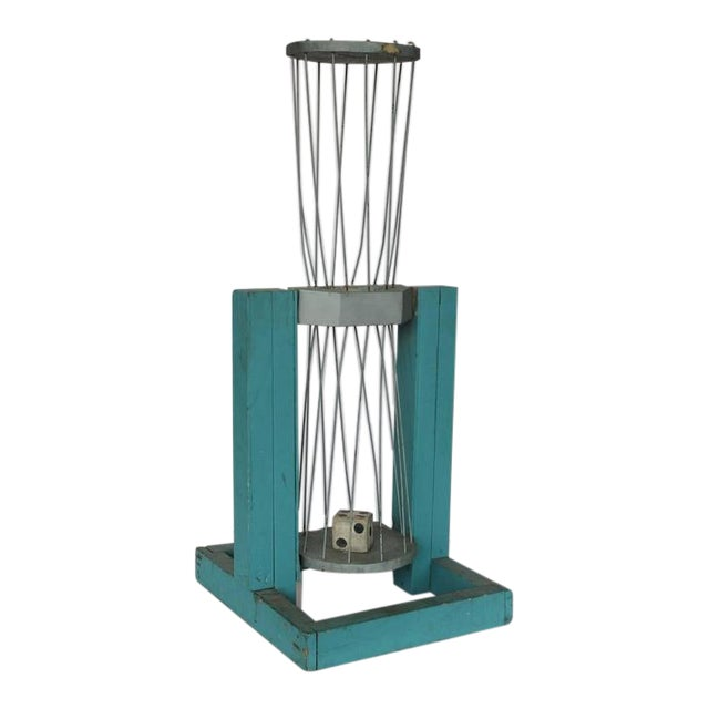 1950's Vintage American Carnival Dice Cage For Sale