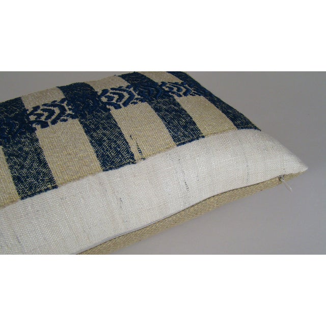 Abstract Japanese Silk Sakiori Obi Geometric Pillow Cover For Sale - Image 3 of 6