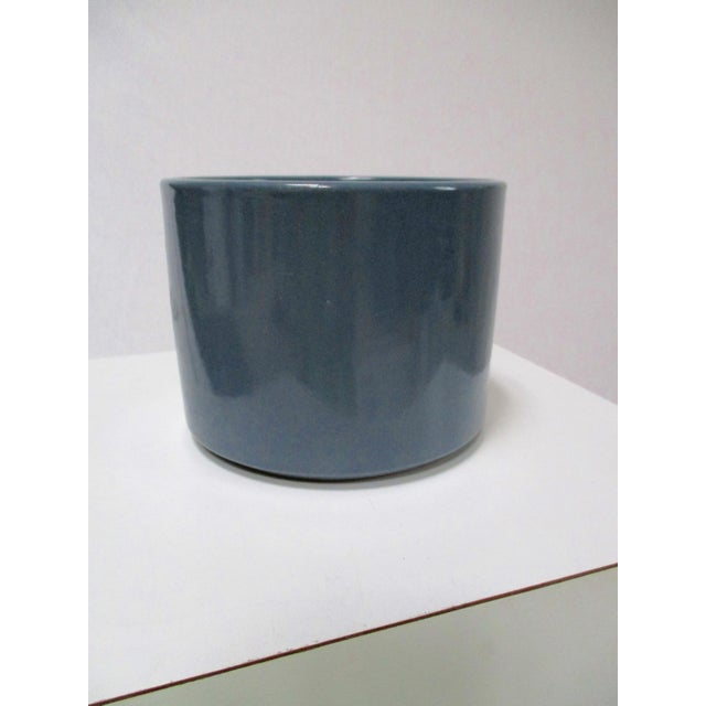 Mid-Century Modern Gainey Blue Pot & Iron Tripod Stand - Image 9 of 11