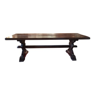 Antique French Farm Trestle Table