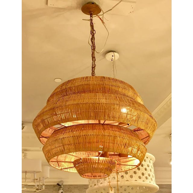 New currey company antibes rattan chandelier chairish currey company antibes rattan chandelier image 5 aloadofball Images