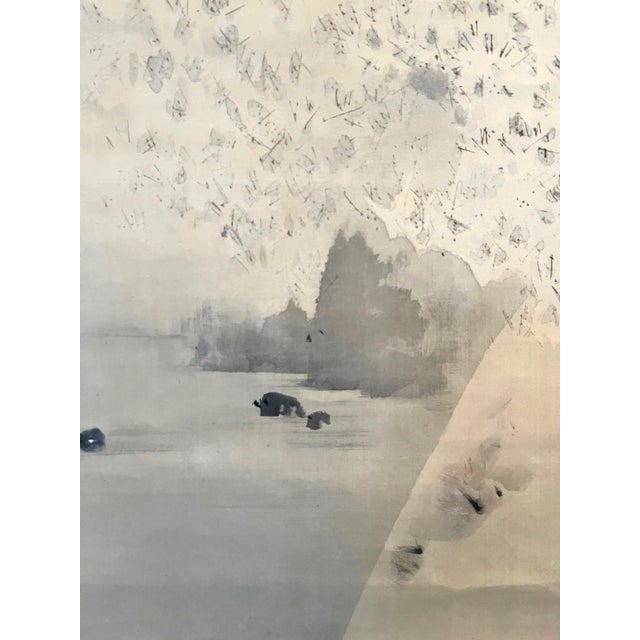 Japanese Ink and Wash Scroll Painting by Watanabe Seitei For Sale - Image 11 of 13