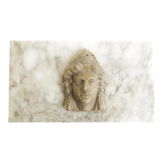 Italian Roman Classical Marble and Composition Medallion Box For Sale