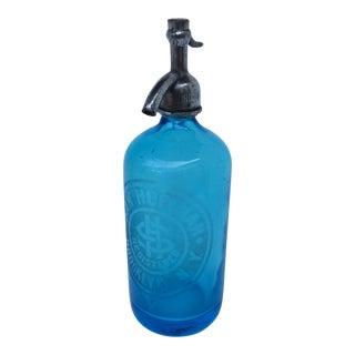 Vintage 1930's Blue Sam Hoffman Brooklyn New York Seltzer Bottle