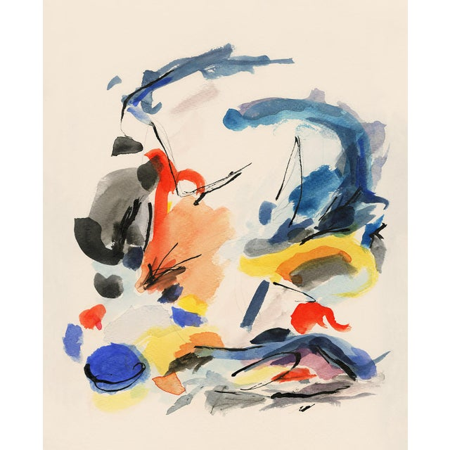 Not Yet Made - Made To Order Mid-Century Modern Colorful Print With Primary Colors - Unframed Giclée on Watercolor Paper For Sale - Image 5 of 6
