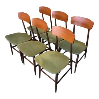 1950s Italian Mid Century-Modern Silvio Cavatorta Attributed Dining Chairs - Set of 6 For Sale