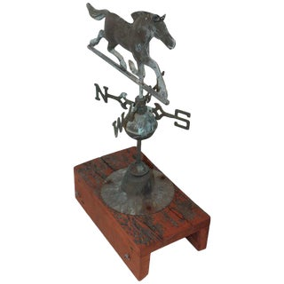 Early 20th Century Miniature Horse Weather Vane and Directionals For Sale