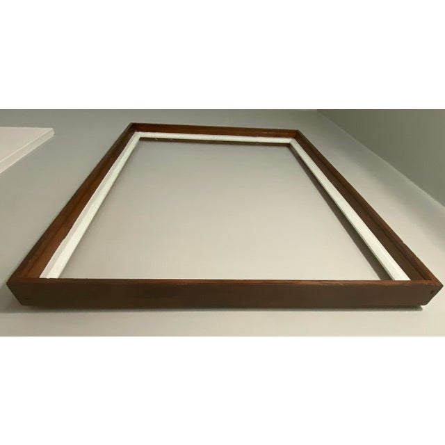 Mid 20th Century Mid 20th Century Traditional Wood Art Frame With White Accents For Sale - Image 5 of 11