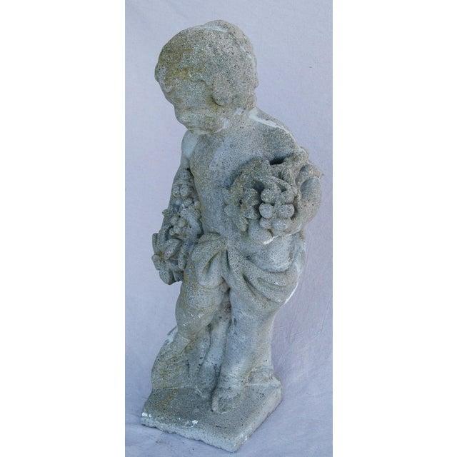 1950s Concrete Cherub Garden Statue - Image 7 of 11