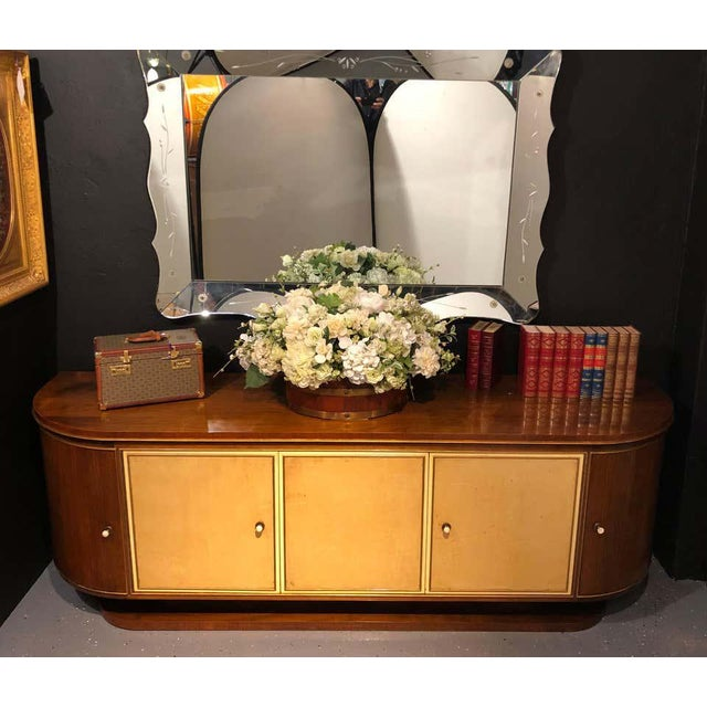 French Art Deco Sideboard or Credenza With Parchment Front, Monumental For Sale - Image 12 of 13