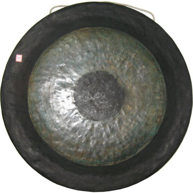 Asian Chinese Brass Gong For Sale - Image 3 of 3