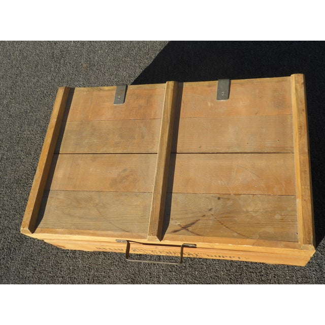 1950s Vintage Industrial Tools Supplies Storage Box for Beliveau General Supply For Sale - Image 5 of 13