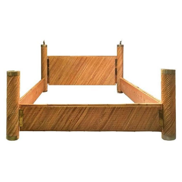Bamboo Brass Bed by Marcello Mioni - Image 8 of 8