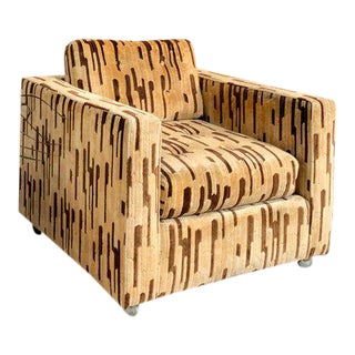 1970s Vintage Patterned Armchair For Sale
