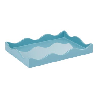Rita Konig Collection Small Belles Rives Tray in Bluebird For Sale