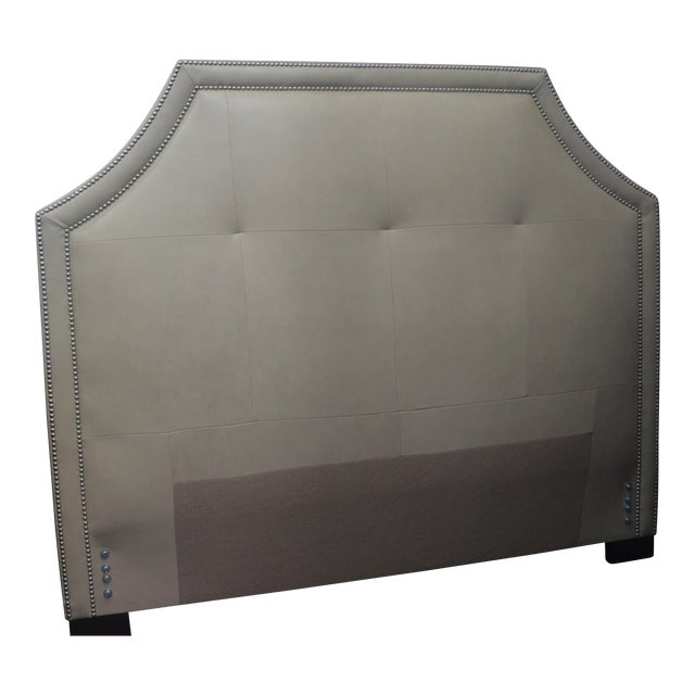 Stickley Leather Queen Headboard - Image 1 of 8