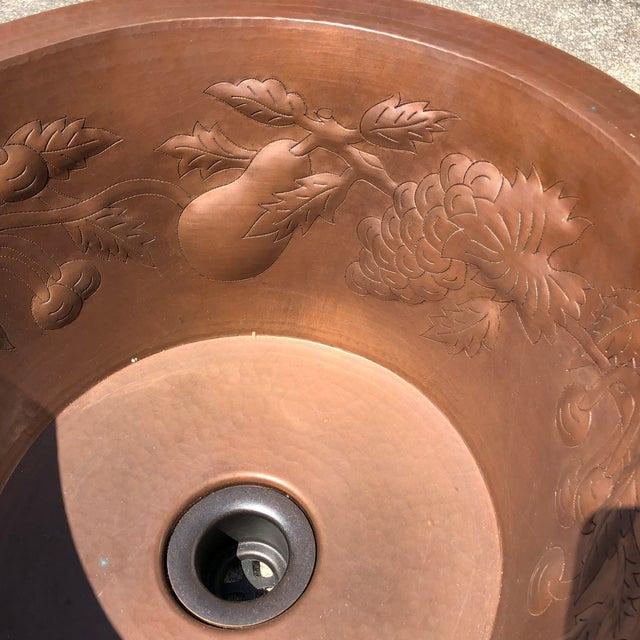 Linkasink Hammered Copper Grape Leaf Bar Sink For Sale - Image 4 of 8