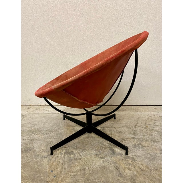 Leathercrafters Mid Century Modern William Katavalos Barrel Chair For Sale - Image 4 of 13