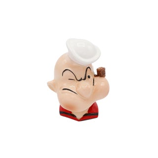 1980's Ceramic Popeye Money Bank For Sale