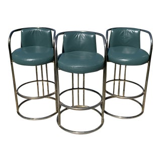 Deco Barstools - Set of 3 For Sale