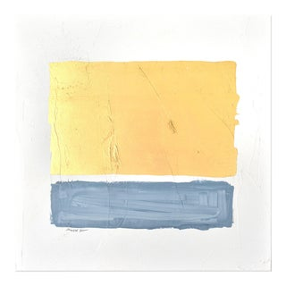 Gilded Bars No. Dark Blue Painting - 2020 For Sale