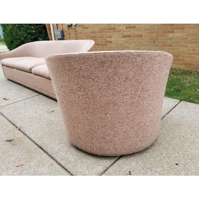 Larsen Furniture Jack Lenor Larsen Low Sofa and Swivel Lounge Chair - A Pair - Image 8 of 11