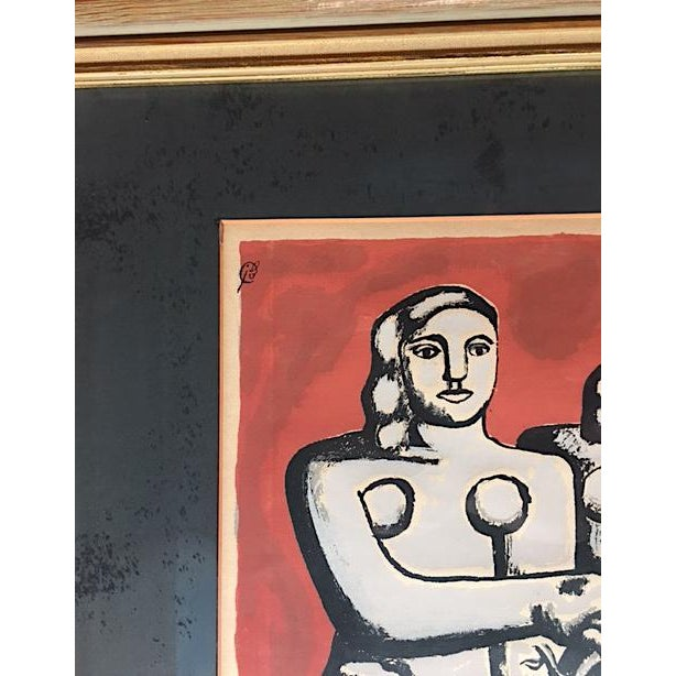 Fernand Léger 'The Three Sisters on Red' Seriograph For Sale - Image 4 of 8