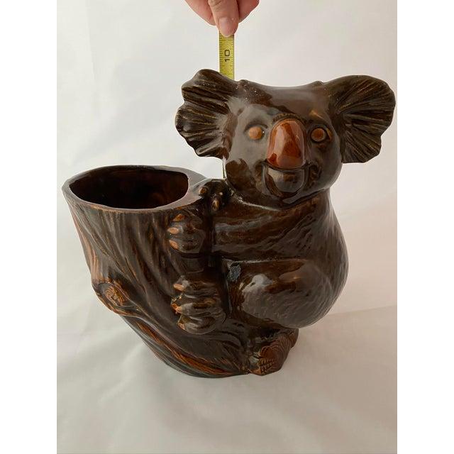 Burnt Umber Haeger Koala Planter Brown For Sale - Image 8 of 13