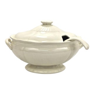Antique Ironstone Tureen & Laddle For Sale
