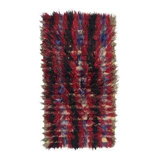 Vintage Silky Angora Abstract Rug For Sale