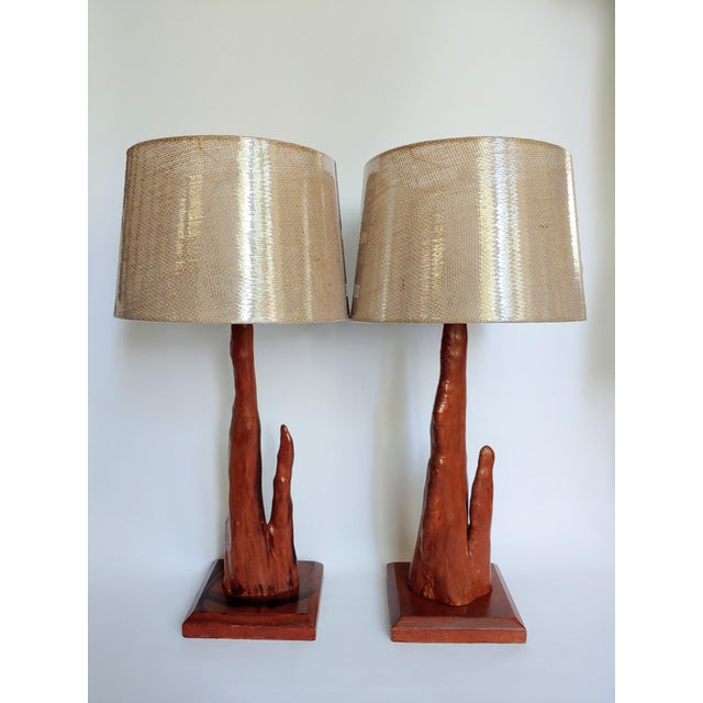 Old Florida handicraft from Florida's mid-century heydays. Cypress Knee Lamps were handmade by locals to sell to Florida...