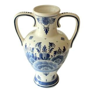 1960s Vintage Delft Amphora Porcelain Vase For Sale