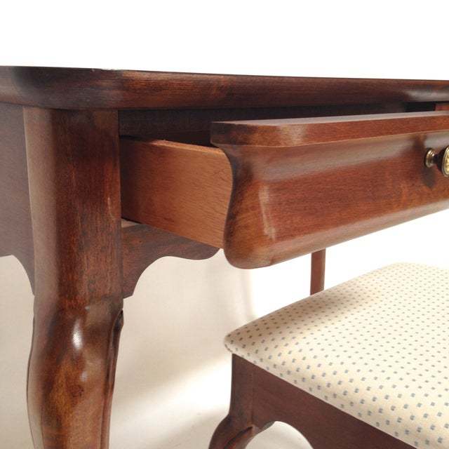 French Style Vanity Hall Table with Stool Set - Image 3 of 6