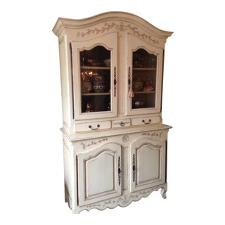 French Country Style Mastercraft White China Cabinet