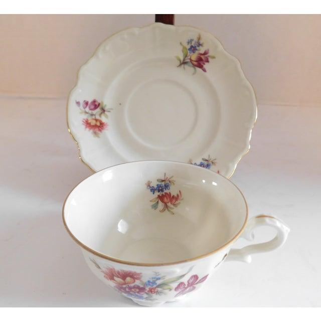 Limoges, France Antique Porcelain Demi-Tasse Cups & Saucers German and Limoges MIX and Match Sets - Service for 6 For Sale - Image 4 of 13