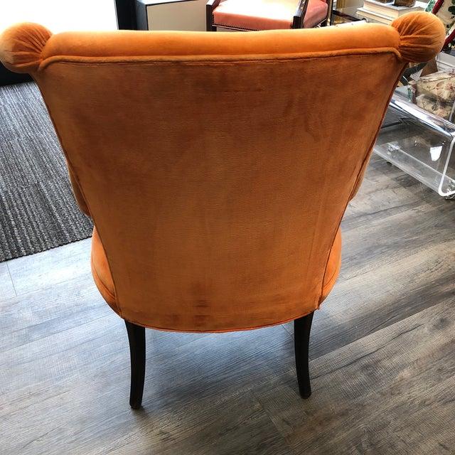 Grosfeld House 1940's Grosfeld House Orange Lounge Chair For Sale - Image 4 of 10