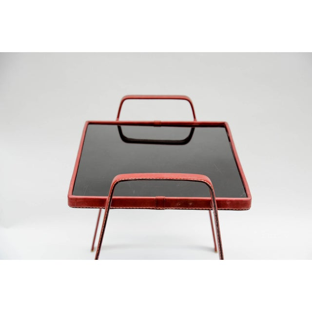 Pair of Side Tables by Jacques Adnet For Sale In New York - Image 6 of 7